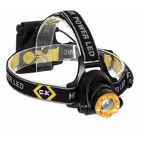 200 Lumen Bright IP64 Rated Large LED Head Lamp Torch Flashlight by C.K Tools