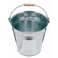 Harris 13 Litre Galvanised Steel Bucket Pail with Wooden Handle