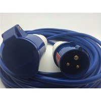 Zexum 16A 230V Blue Arctic Male to Female Electric Mains Hook Up Extension Cable Lead