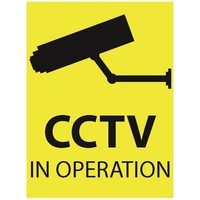 Zexum 100mm x 75mm CCTV In Operation Window Sticker