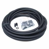 Dietzel Univolt 25mm Black Flexible Electrical Corrugated Conduit Plastic PVC Pipe Contractor Pack with 10 Glands