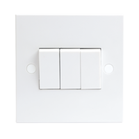 KnightsBridge 10A White 3G 2 Way 230V Electric Wall Plate Switch