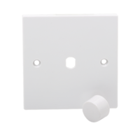1G White Electric Dimmer Plate Electric Wall Switch with Dimmer Knob by KnightsBridge