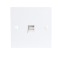 KnightsBridge 1G White Telephone Master Socket Flush Wall Switch