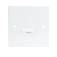 KnightsBridge 13A White Connection Unit 3 Amp Fused & Flex Outlet Electric Wall Plate