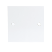 KnightsBridge 20A White Flex Outlet Single Frontplate Electric Wall Plate