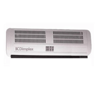 Dimplex 4.5kW Electric Over Door Down Flow Fan Heater Multi-directional 2 heat Settings