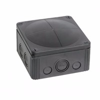Combi 108/5 20A Black IP66 Weatherproof Junction Adaptable Box Enclosure With 5 Way Connector by Wiska
