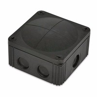 Combi 607/5 40A Black IP66 Weatherproof Junction Adaptable Box Enclosure With 5 Way Connector by Wiska