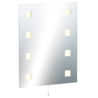 KnightsBridge Illuminated Decorative Rectangular Bathroom Wall Mirror IP44 Rated