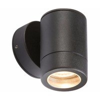 KnightsBridge Fixed IP65 Aluminium Black Indoor Outdoor Single Wall Light