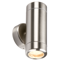 KnightsBridge Fixed IP65 Stainless Steel Indoor Outdoor Double Wall Light
