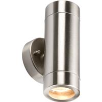 HISPEC LED BULKHEAD SENSOR LIGHT PIR WEATHERPROOF IP44 6W = 60W VANDAL RESISTANT