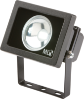 KnightsBridge IP65 Adjustable Low Energy LED Security Flood Light Black Aluminium.