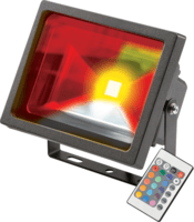 KnightsBridge IP65 Adjustable Low Energy LED Security RGB FloodLight Black Aluminium