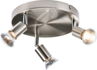 KnightsBridge Ceiling Light GU10 50 Watt 3 Spotlight Bar Brushed Chrome LED Compatible