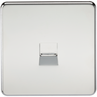 KnightsBridge Screwless Polished Chrome Telephone Extension Flush Wall Socket