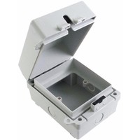 Eterna 1G IP65 Weatherproof Outdoor Switch Socket Accessory Box