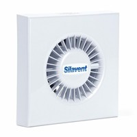 Silavent 4 Axial Extractor Bathroom Wall Ceiling Fan Backdraught Shutter & Timer