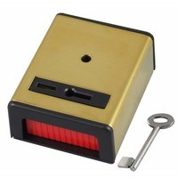 CQR Panic Button & Key Personal Attack Hold-Up Device Brass Finish