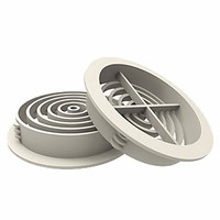 70mm Round Roof Soffit Vent Ventilator by Manthorpe