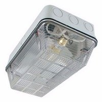 Eterna 100W IP65 BC B22d Polycarbonate Base Diffuser Vandal Bulkhead (Option: White Base)