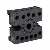 Greenbrook Round 8 pin DIN Rail base for Plug in 2 Pole Relay