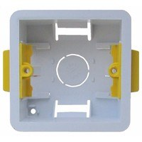1 Gang 47mm Single Dry Lining Plasterboard Wall Mounting Back Box by ESR