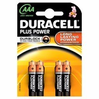 Duracell Plus Power AAA LR03 Alkaline Battery (4 Pack)