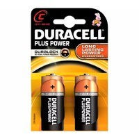 Duracell Plus Power Duralock C LR14 Block Alkaline Battery - 2 Pack