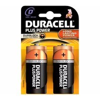 Duracell Plus Power Duralock D LR20 Block Alkaline Battery - 2 Pack