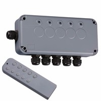 KnightsBridge Remote Controlled IP66 Weatherproof Outdoor Switch Box (Option: 5 Gang)
