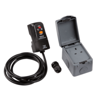 IP66 Outdoor Socket DIY RCD Single Switched Socket Installation Kit by KnightsBridge
