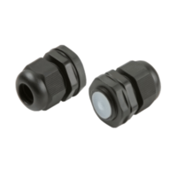 KnightsBridge M20 IP66 Nylon Cable Gland with Locknut