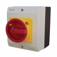 ESR 32A 3 Pole 230V-415V Medium IP65 Industrial Rotary Isolator