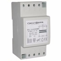 Greenbrook 2A Variable Voltage DIN Rail Double Insulated Bell And Chime Transformer