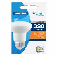 Status 8W Warm White Edison Screw ES LED R63 Spot Reflector Light Bulb