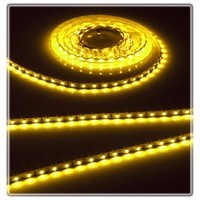 KnightsBridge Yellow 12V LED IP20 Flexible Indoor Internal Rope Lighting Strip - 5 Meter