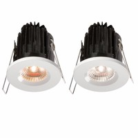 KnightsBridge FireKnight 7W IP65 LED 4000K Downlight With White Bezel