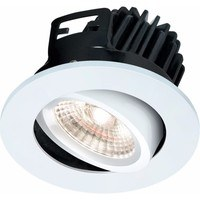 KnightsBridge FireKnight Tilt 7W IP20 LED Downlight With White Bezel