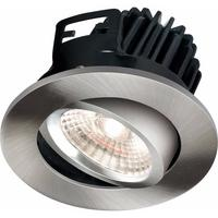 KnightsBridge FireKnight Tilt 7W IP20 LED Downlight With Brushed Chrome Bezel (Option: Cool White)