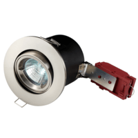 KnightsBridge MR16 50W 12V Low Voltage 90 Minute Fire Rated Tilting Downlight