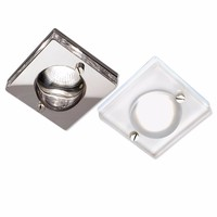 KnightsBridge 50W IP65 Decorative Square Glass Bathroom Downlight