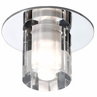 KnightsBridge IP65 Low Voltage Decorative Round Crystal Bathroom Lamp Fitting