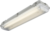 KnightsBridge Twin T8 36W IP65 240V Emergency Backup Non-Corrosive Lamp Fitting