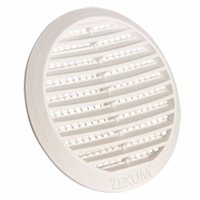 Zexum Round White Louvre Vent Grille With Flyscreen For 4 100mm - 6 150mm