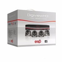 ESP 4 Channel Digiview AHD CCTV Security System & 4 Dome Cameras
