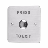 Flush Stainless Steel 12V Door Switch Push To Exit Button by ESP