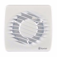 "Xpelair DX100T 4"" 100mm Square Bathroom Extrator Fan With Timer"