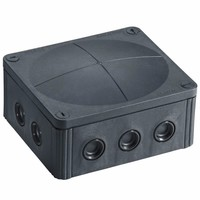 Wiska Combi 1210/5 57A Black IP66 Weatherproof Junction Adaptable Box Enclosure With 5 Way Connector
